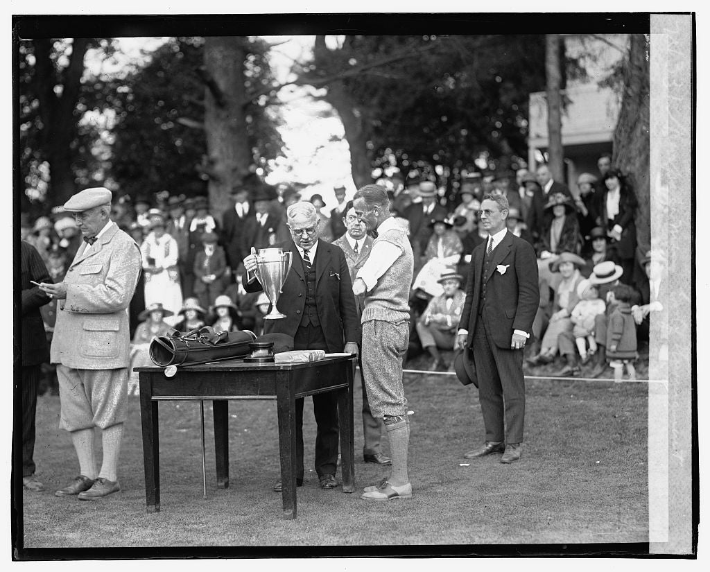 16 x 20 Gallery Wrapped Frame Art Canvas Print of Newspaper Men's Golf Tournament, 5/22/23 1923 National Photo Co  49a