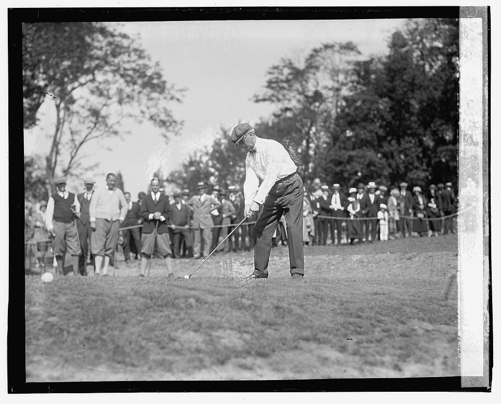 16 x 20 Gallery Wrapped Frame Art Canvas Print of Col. Harvey in Newspaper Mens Golf Tournament, 5/22/23 1923 National Photo Co  53a