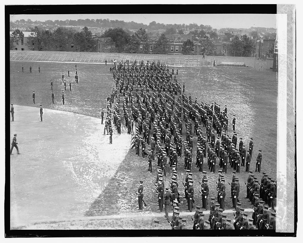 16 x 20 Gallery Wrapped Frame Art Canvas Print of High School competition drill, 5/23/23 1923 National Photo Co  54a