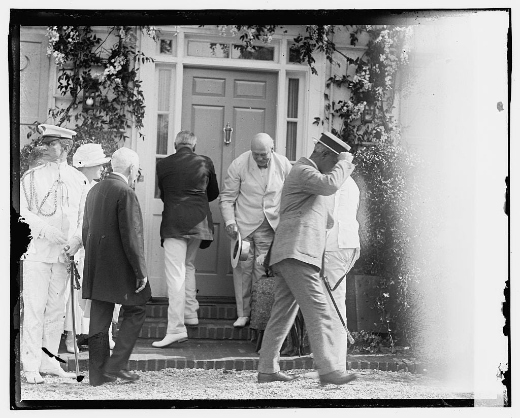 16 x 20 Gallery Wrapped Frame Art Canvas Print of Pres. Harding dedicating model house 1923 National Photo Co  89a
