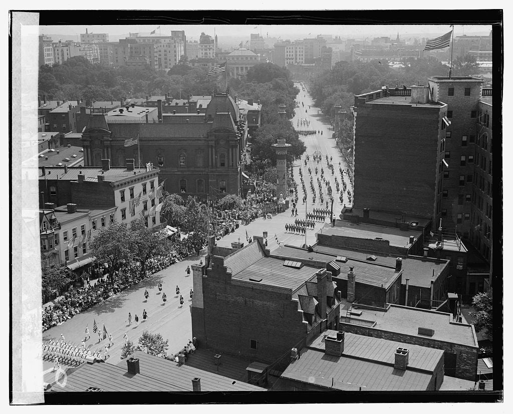 16 x 20 Gallery Wrapped Frame Art Canvas Print of Shriners Parade, Washington, D.C. 1920 National Photo Co  32a