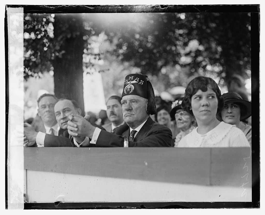 16 x 20 Gallery Wrapped Frame Art Canvas Print of Shriners Parade, Washington, D.C. James F. Oyster, 6/5/23 1923 National Photo Co  95a