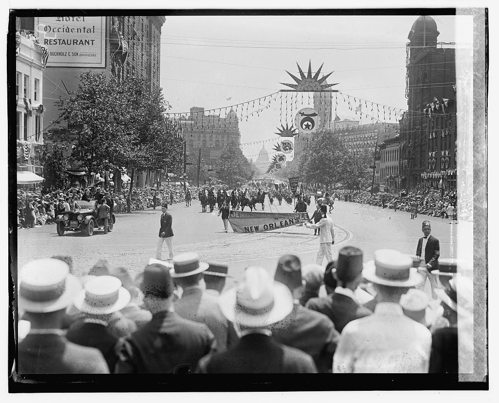 16 x 20 Gallery Wrapped Frame Art Canvas Print of Shriners Parade, Washington, D.C. Jerusalem Temple, New Orleans, LA., 6/5/23 1923 National Photo Co  36a