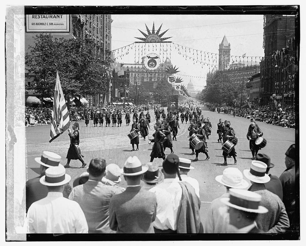 16 x 20 Gallery Wrapped Frame Art Canvas Print of Shriners Parade, Washington, D.C. Orak, Hammond, Ind,. 5/6/23 i.e., 6/5/23 1923 National Photo Co  25a