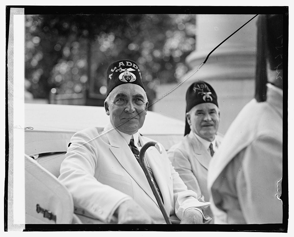 16 x 20 Gallery Wrapped Frame Art Canvas Print of Shriners Parade, Washington, D.C. Harding & McCandless 1923 National Photo Co  26a