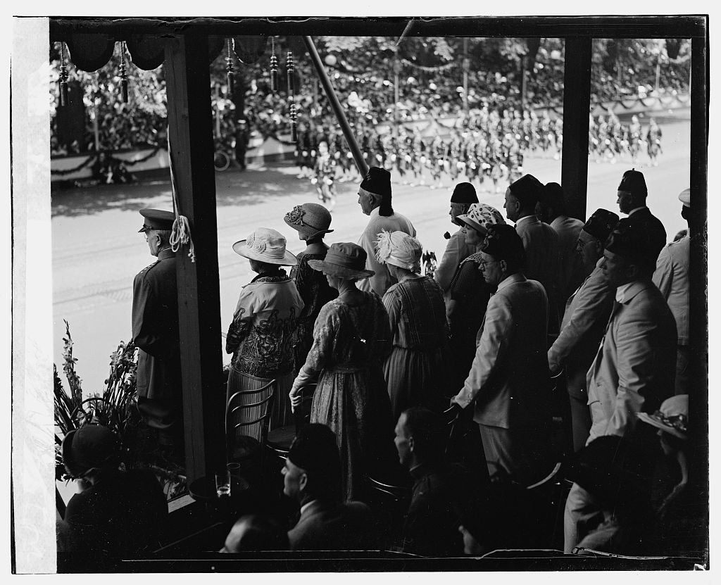 16 x 20 Gallery Wrapped Frame Art Canvas Print of Shriners Parade, Washington, D.C. Harding 1923 National Photo Co  27a