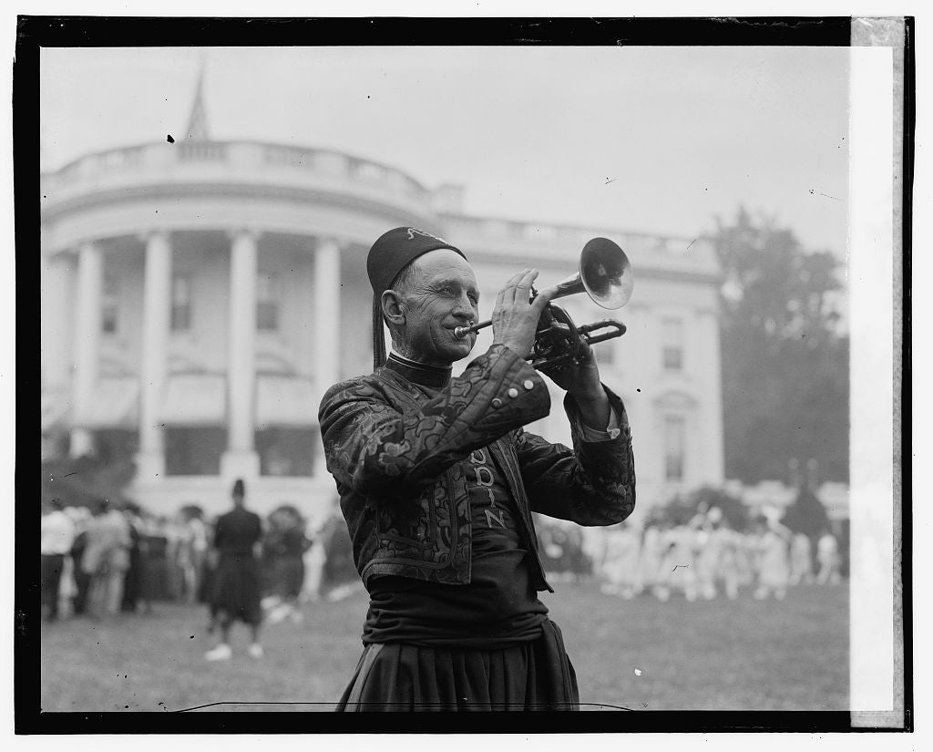 16 x 20 Gallery Wrapped Frame Art Canvas Print of Aladdin at White House 1923 National Photo Co  86a