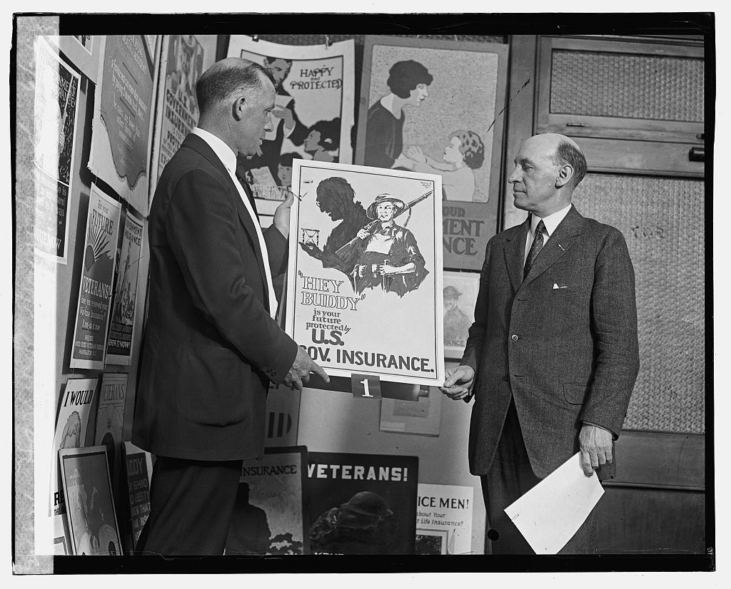 16 x 20 Gallery Wrapped Frame Art Canvas Print of Harry R. Merrick and Genl. Frank Hines, 6/7/23 1923 National Photo Co  98a