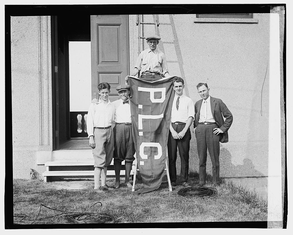 16 x 20 Gallery Wrapped Frame Art Canvas Print of Wash. team, Pub. Links; Champ Eddie Brooke holding flag, Agnew, Posey, di Este, Miller 1923 National Photo Co  15a