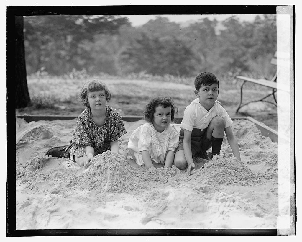16 x 20 Gallery Wrapped Frame Art Canvas Print of Children of Andre de Laboulaye 1923 National Photo Co  78a