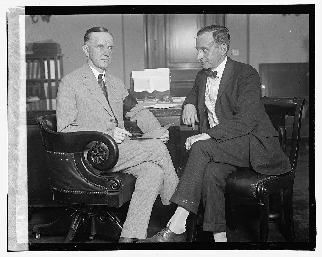 16 x 20 Gallery Wrapped Frame Art Canvas Print of Coolidge & Clark, 8/4/23 1923 National Photo Co  84a