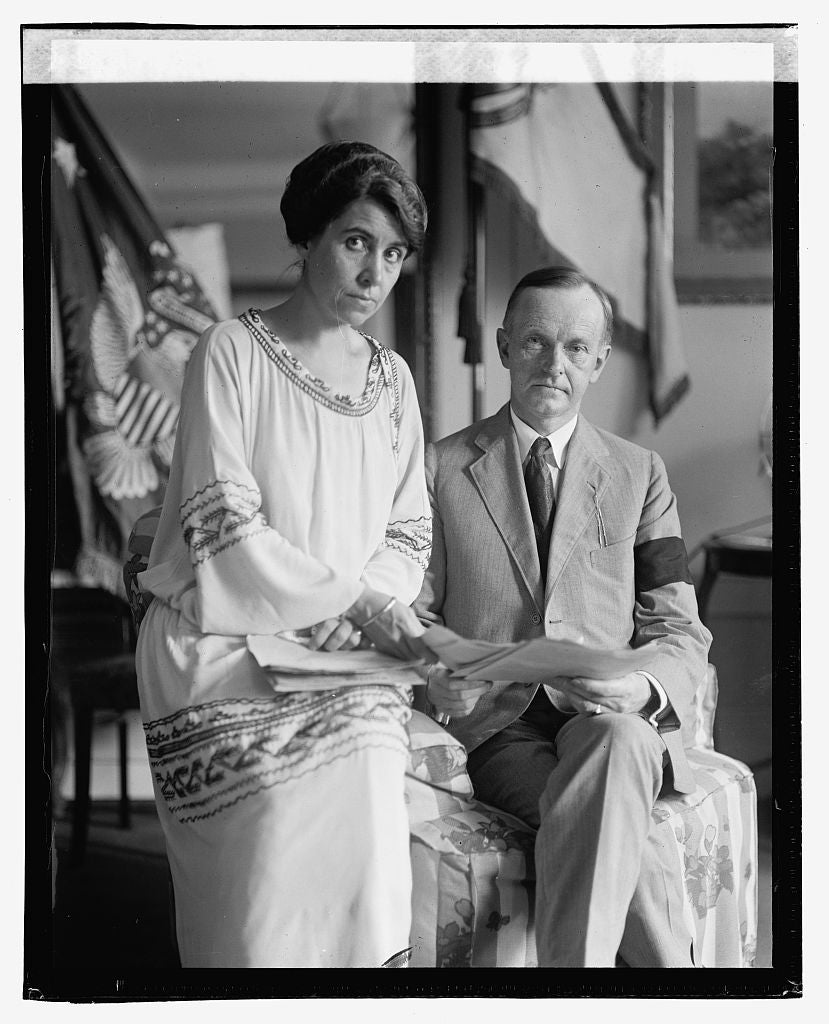 16 x 20 Reprinted Old Photo ofCoolidge & wife, 8/4/23 1923 National Photo Co  75a
