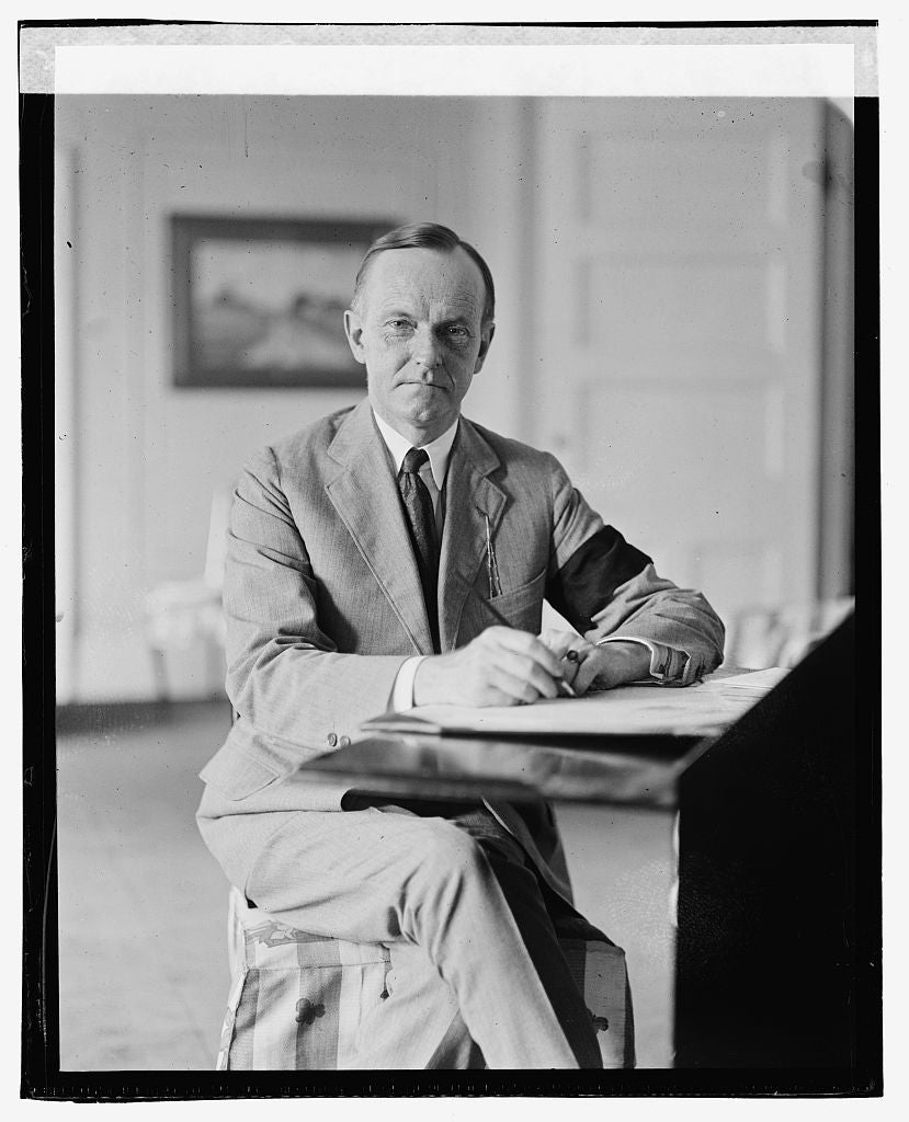 16 x 20 Gallery Wrapped Frame Art Canvas Print of Coolidge, 8/4/23 1923 National Photo Co  37a