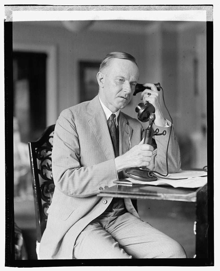 16 x 20 Gallery Wrapped Frame Art Canvas Print of Coolidge, 8/4/23 1923 National Photo Co  86a
