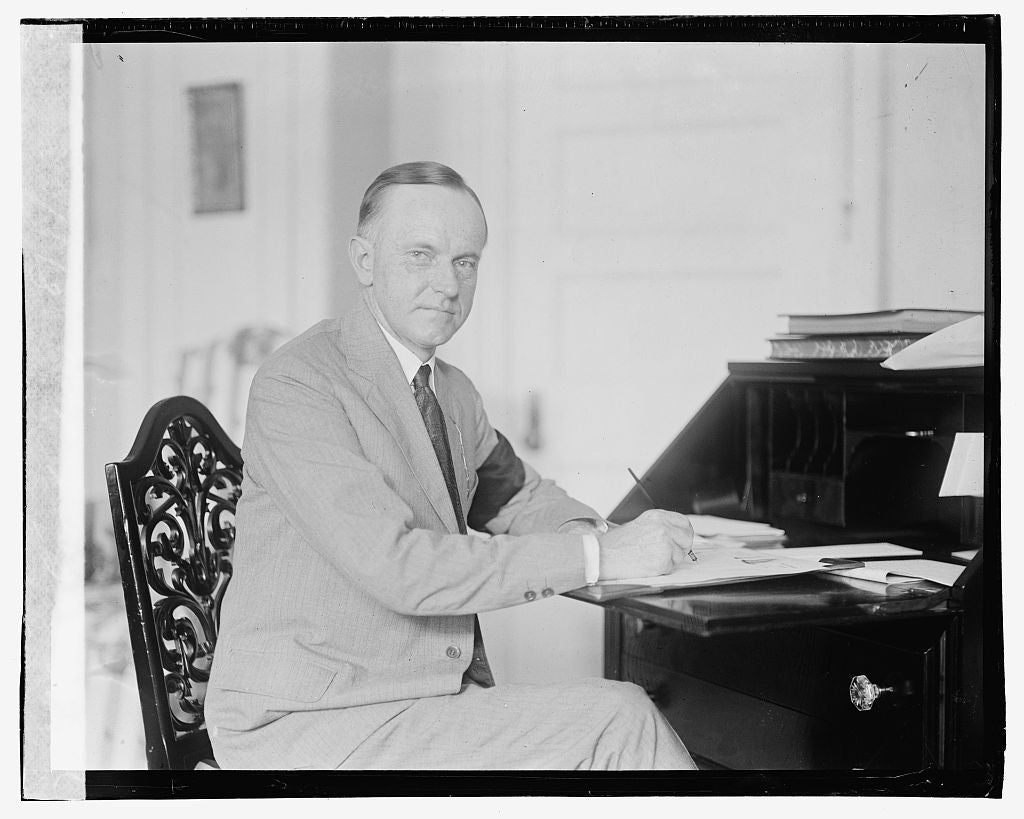 16 x 20 Gallery Wrapped Frame Art Canvas Print of Coolidge, 8/4/23 1923 National Photo Co  87a