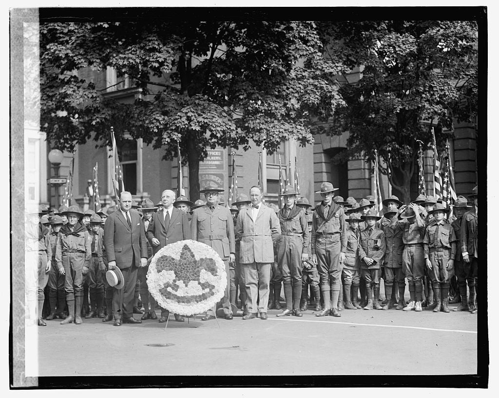 16 x 20 Gallery Wrapped Frame Art Canvas Print of Boy scouts 1923 National Photo Co  89a