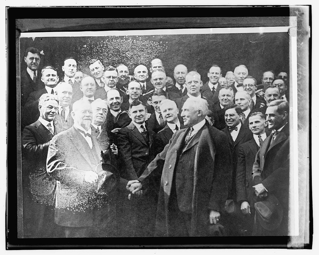16 x 20 Gallery Wrapped Frame Art Canvas Print of Harding leaving Marion 1923 National Photo Co  51a