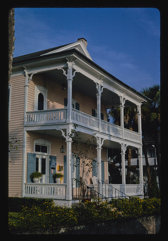 8 x 12 Photo of Westcott House Bed & Breakfast, St. Augustine, Florida 1990 Margolies, John 90a