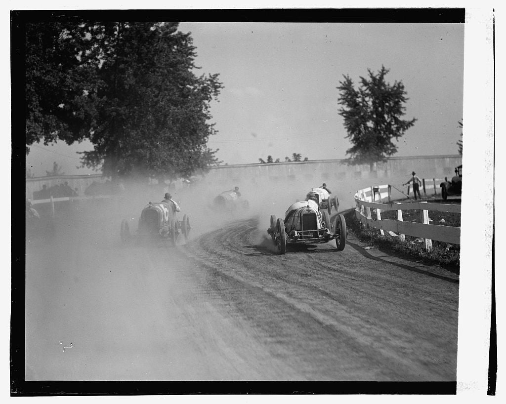 16 x 20 Gallery Wrapped Frame Art Canvas Print of Auto races, Rockville Fair, 8/25/23 1923 National Photo Co  69a
