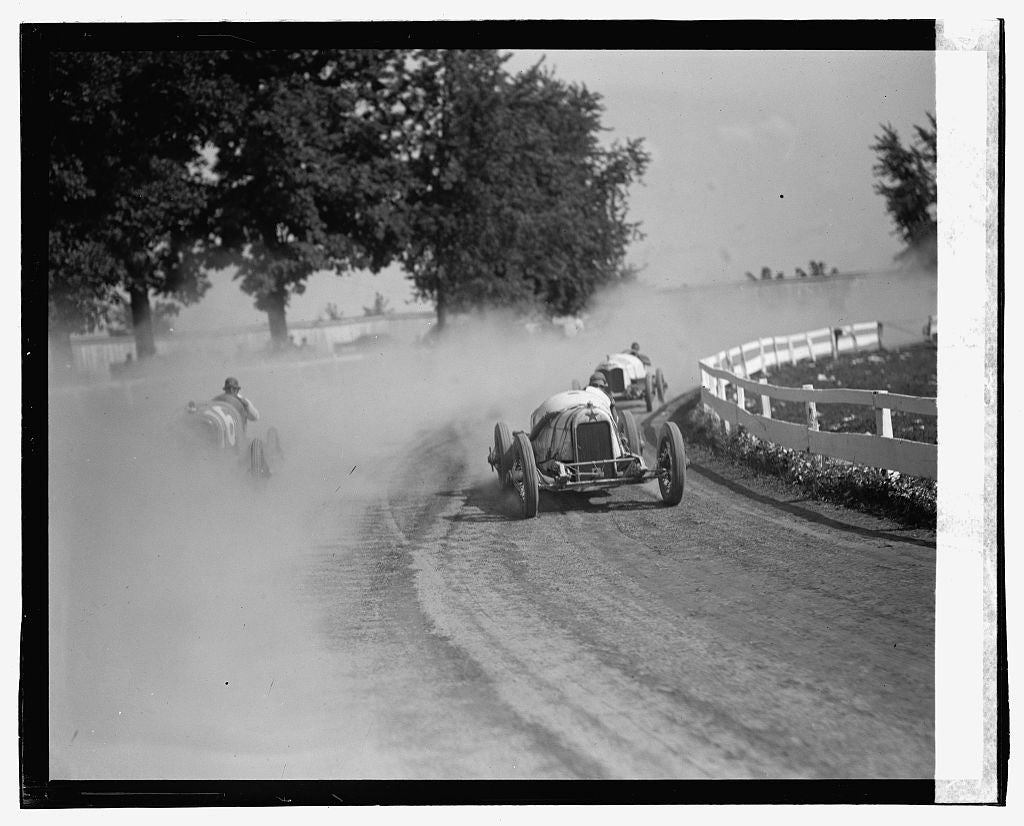 16 x 20 Gallery Wrapped Frame Art Canvas Print of Auto races, Rockville Fair, 8/25/23 1923 National Photo Co  70a