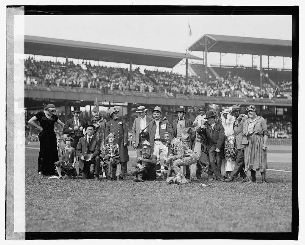16 x 20 Gallery Wrapped Frame Art Canvas Print of Police, Firemen's ballgame, 9/3/23 1923 National Photo Co  75a