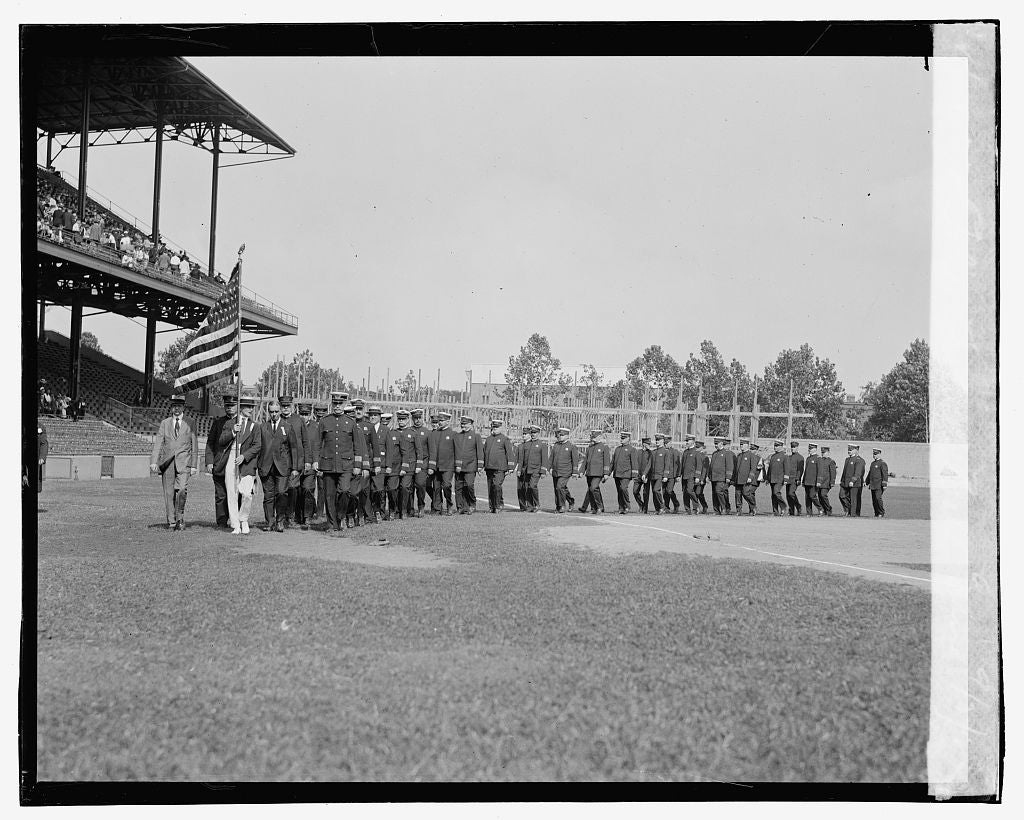 16 x 20 Gallery Wrapped Frame Art Canvas Print of Police, Firemen's ballgame, 9/3/23 1923 National Photo Co  76a
