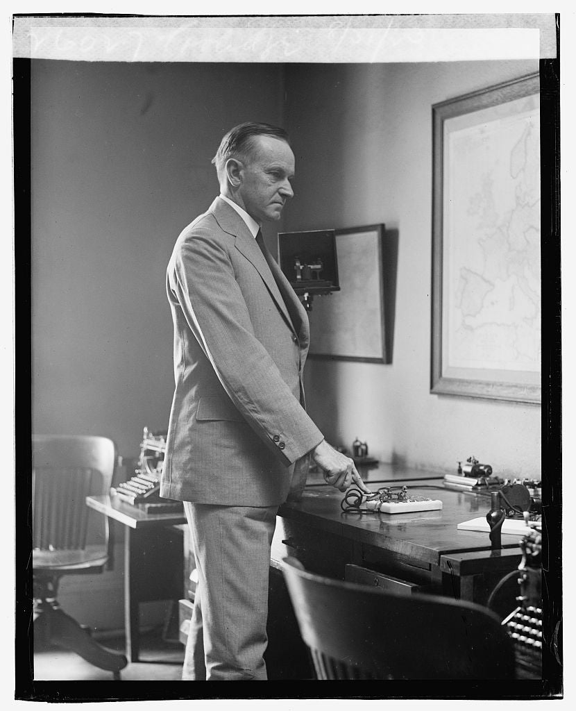 16 x 20 Gallery Wrapped Frame Art Canvas Print of Coolidge, 8/31/23 1923 National Photo Co  14a