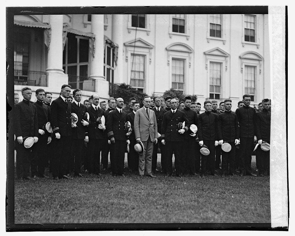 16 x 20 Gallery Wrapped Frame Art Canvas Print of Coolidge & Mass. Nautical School, 9/3/23 1923 National Photo Co  89a