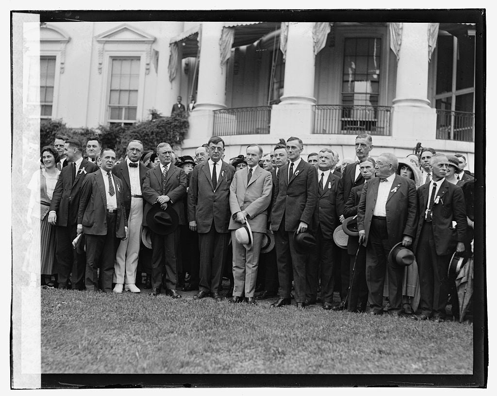 16 x 20 Gallery Wrapped Frame Art Canvas Print of Coolidge & Assn. of PO Club, 9/4/23 1923 National Photo Co  24a