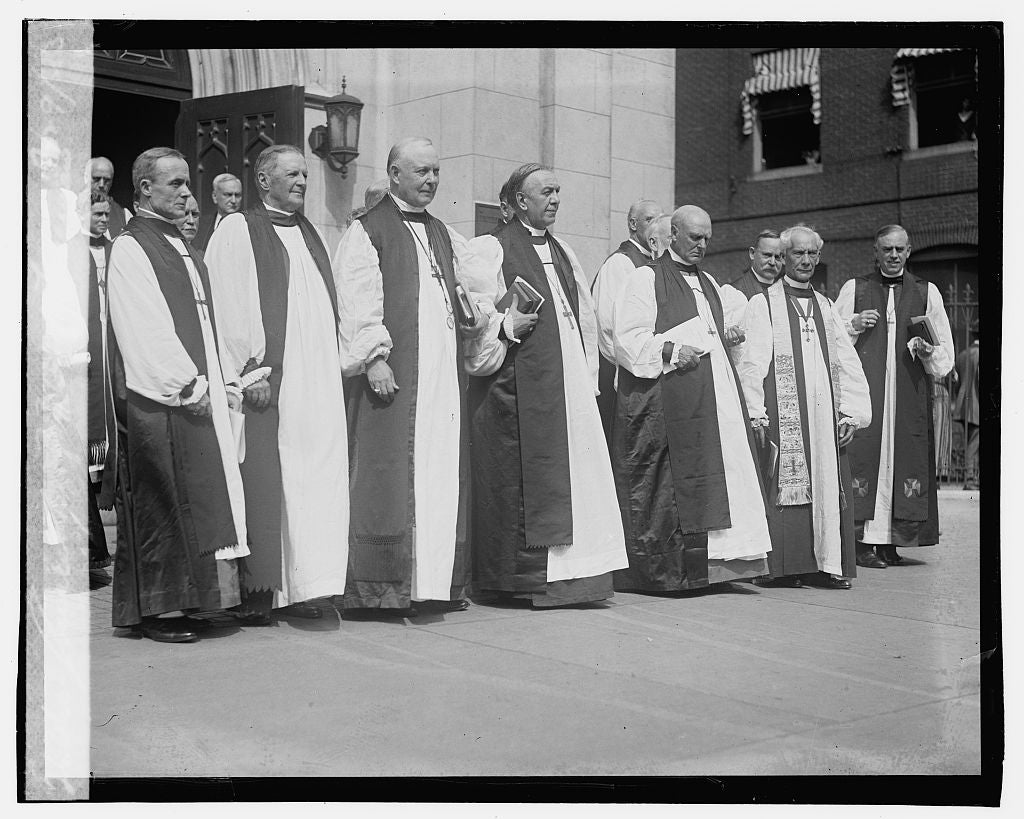 16 x 20 Gallery Wrapped Frame Art Canvas Print of Consecration of Bishop Freeman, 9/29/23 1923 National Photo Co  40a