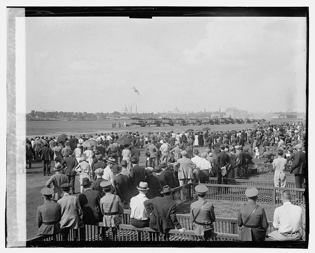 16 x 20 Gallery Wrapped Frame Art Canvas Print of Bolling field Air Circus, 9/24/23 1923 National Photo Co  35a