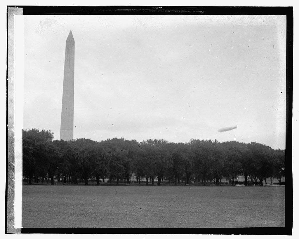 16 x 20 Gallery Wrapped Frame Art Canvas Print of ZR 1 at Monument, 9/22/23 1923 National Photo Co  37a