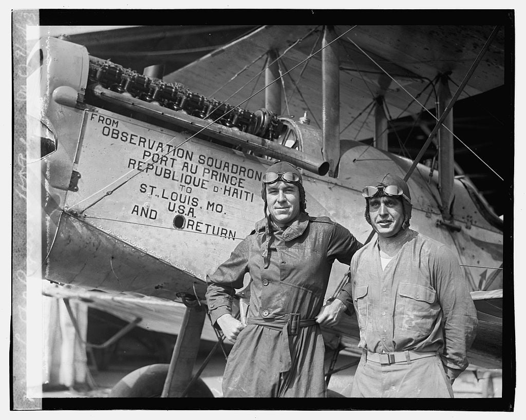 16 x 20 Gallery Wrapped Frame Art Canvas Print of Lt. F.O. Rogers & H.D. Palmer M.C. , 9/24/23 1923 National Photo Co  39a