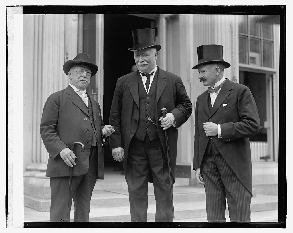 16 x 20 Gallery Wrapped Frame Art Canvas Print of Gompers, R.T. Hon. Wm. Ferguson, Massey & Hon. Henry Getty Chilton, 9/20/23 1923 National Photo Co  86a