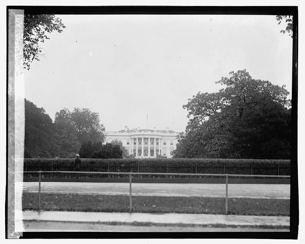 16 x 20 Gallery Wrapped Frame Art Canvas Print of White House 1923 National Photo Co  43a