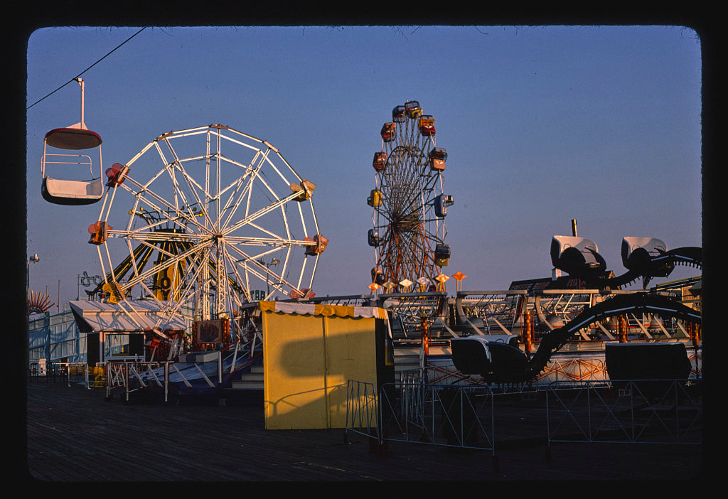 8 x 12 Photo of Rides A.M., Seaside Heights, New Jersey 1978 Margolies, John 88a
