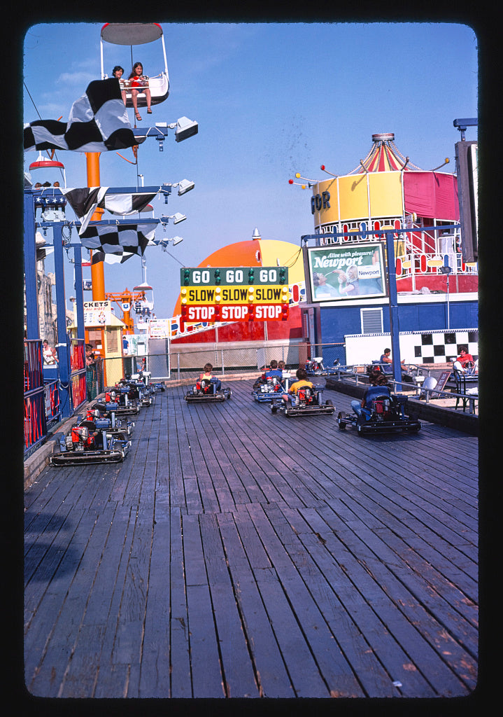 8 x 12 Photo of Go carts, Seaside Heights, New Jersey 1978 Margolies, John 36a