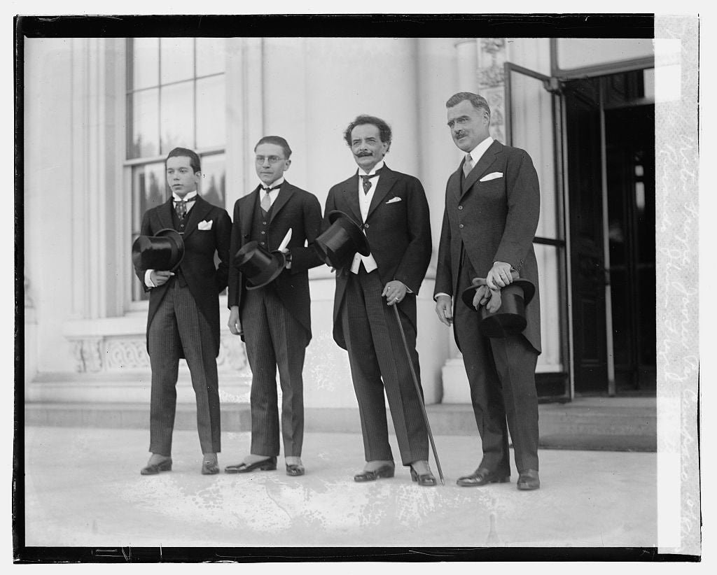 16 x 20 Gallery Wrapped Frame Art Canvas Print of Victor Freyre, Javru Paz Camparo, Ricardo Jaimes Freyre, J.Butler Wright, 10/8/23 1923 National Photo Co  51a