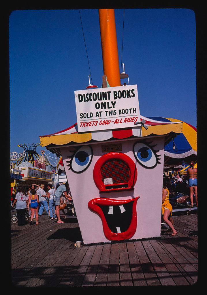 8 x 12 Photo of  Ticket booth, Seaside Heights, New Jersey  1978 Margolies, John 74a