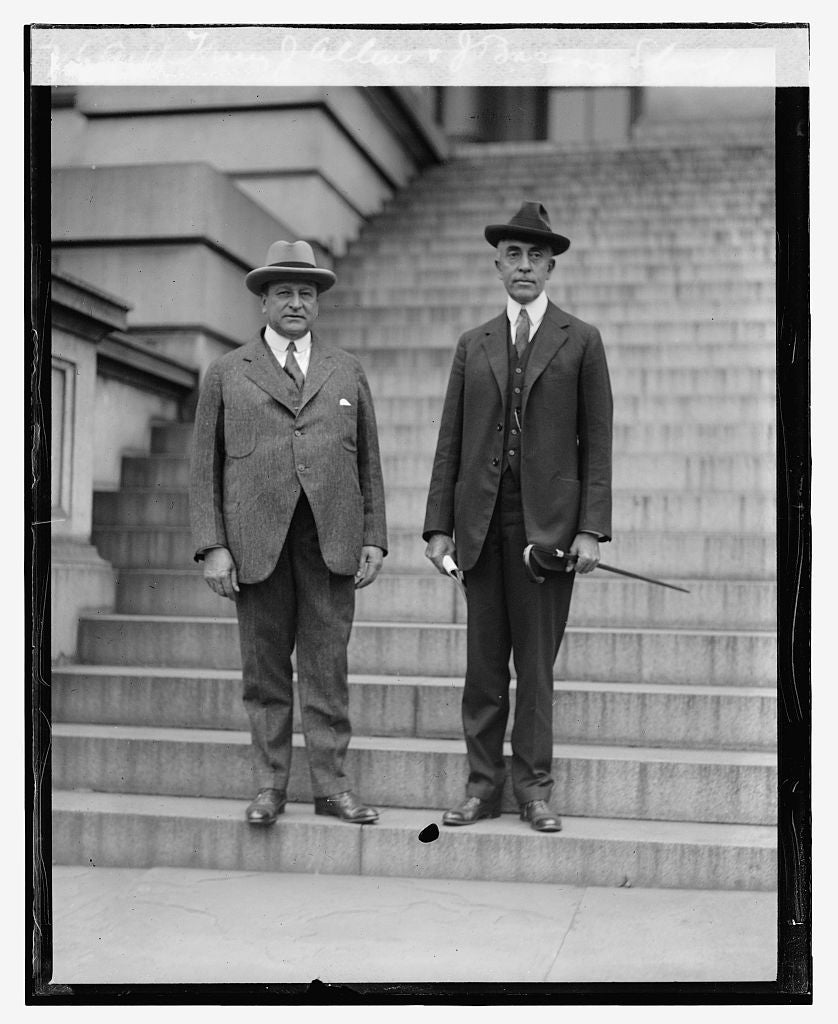 16 x 20 Reprinted Old Photo ofHenry J. Allen & J.Bascom Slemp, 10/16/23 1923 National Photo Co  10a