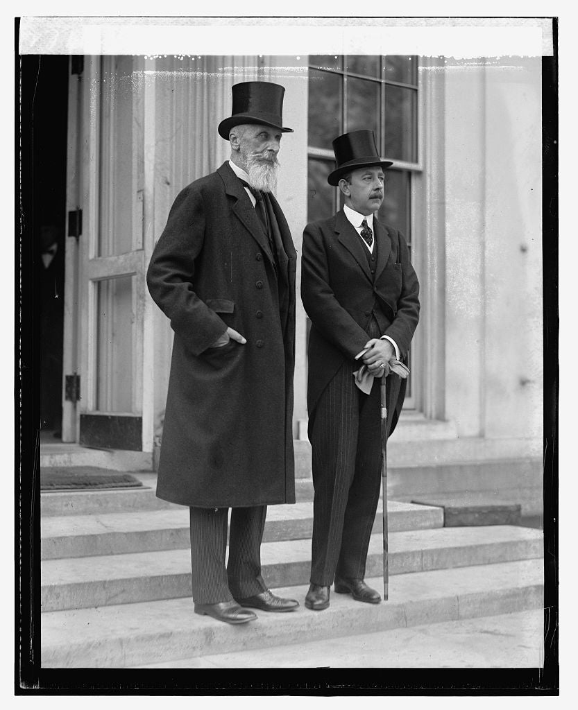 16 x 20 Reprinted Old Photo ofCount Appony & Count Szechenyi, 10/29/23 1923 National Photo Co  20a