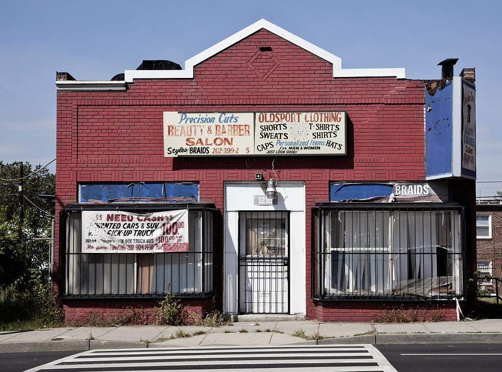 18 x 24 Photograph reprinted on fine art canvas  of Building 1200 block of Bladensburg Road NE Washington D.C.  r48 2010 by Highsmith, Carol M.,