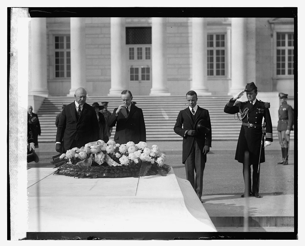 16 x 20 Reprinted Old Photo ofWeeks, Coolidge & Roosevelt 1923 National Photo Co  83a