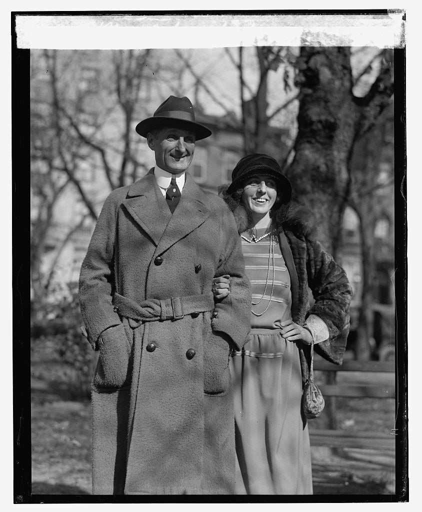 16 x 20 Reprinted Old Photo ofMcAdoo & wife, 11/9/23 1923 National Photo Co  88a