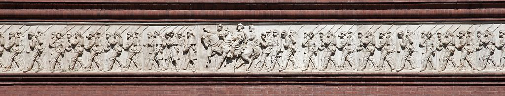 18 x 24 Photograph reprinted on fine art canvas  of Civil War bas relief on the Pension Building 401 F St. NW Washington D.C.  r57 2010 by Highsmith, Carol M.,