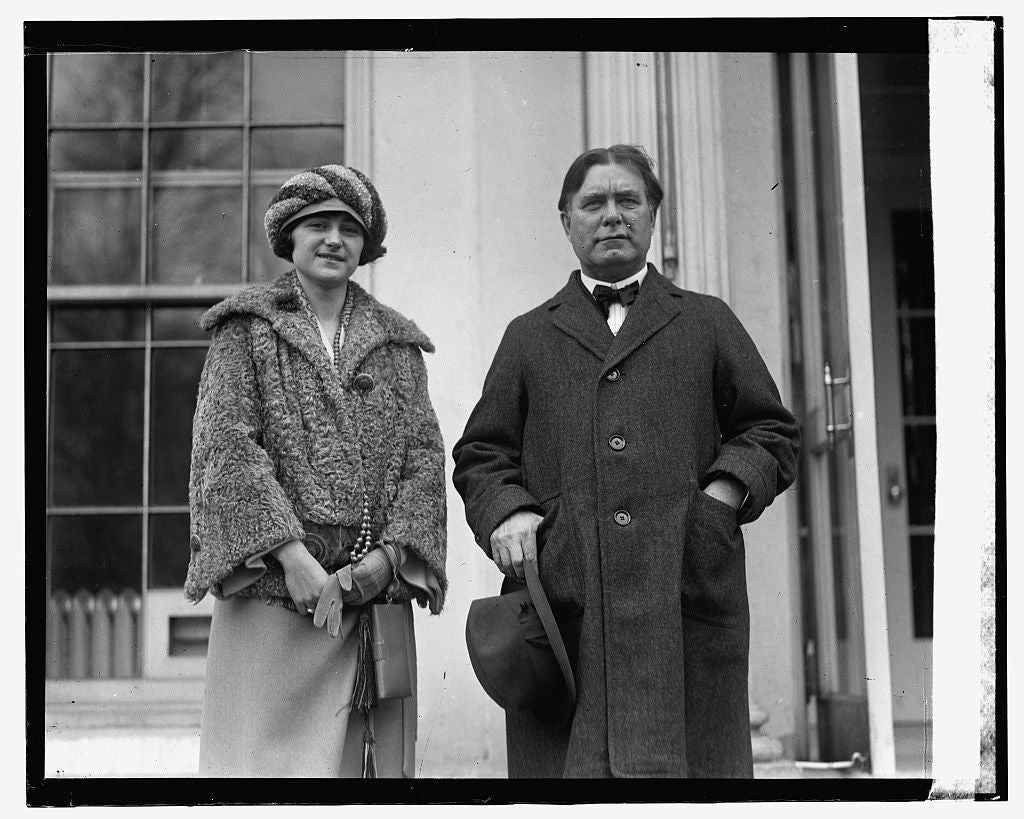 16 x 20 Gallery Wrapped Frame Art Canvas Print of Borah & Miss Mary Haggworth 1923 National Photo Co  76a
