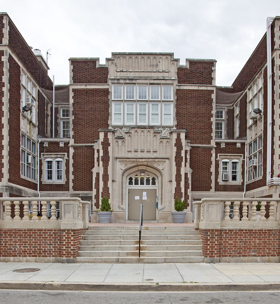 18 x 24 Photograph reprinted on fine art canvas  of Bruce Monroe Elementary School Warder Street near Otis Place NW Washington D.C.  r59 2010 by Highsmith, Carol M.,