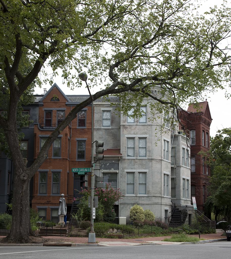 18 x 24 Photograph reprinted on fine art canvas  of Row houses East Capitol St. Washington D.C. r07 2010 by Highsmith, Carol M.,