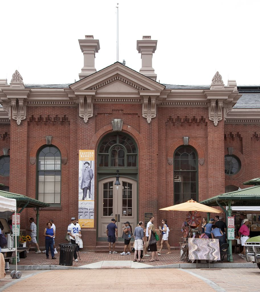 18 x 24 Photograph reprinted on fine art canvas  of Eastern Market is a public market in the Capitol Hill neighborhood of Washington D.C. r12 2010 by Highsmith, Carol M.,