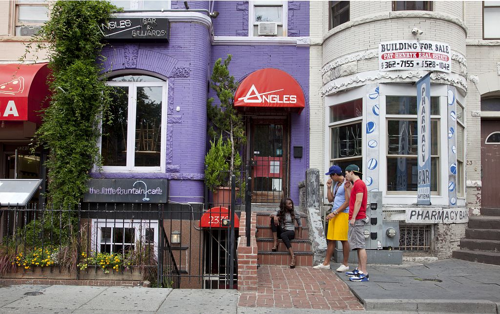 18 x 24 Photograph reprinted on fine art canvas  of Adams Morgan is a culturally diverse neighborhood in NW Washington D.C. r26 2010 by Highsmith, Carol M.,